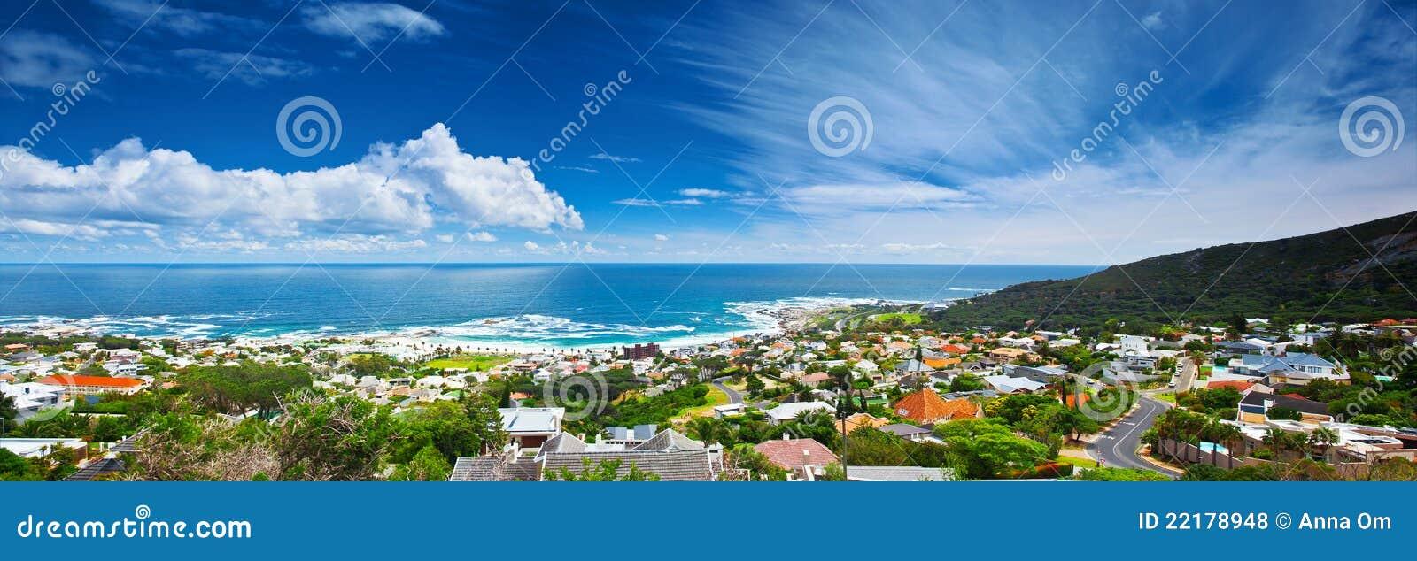 De stads panoramisch beeld van Kaapstad