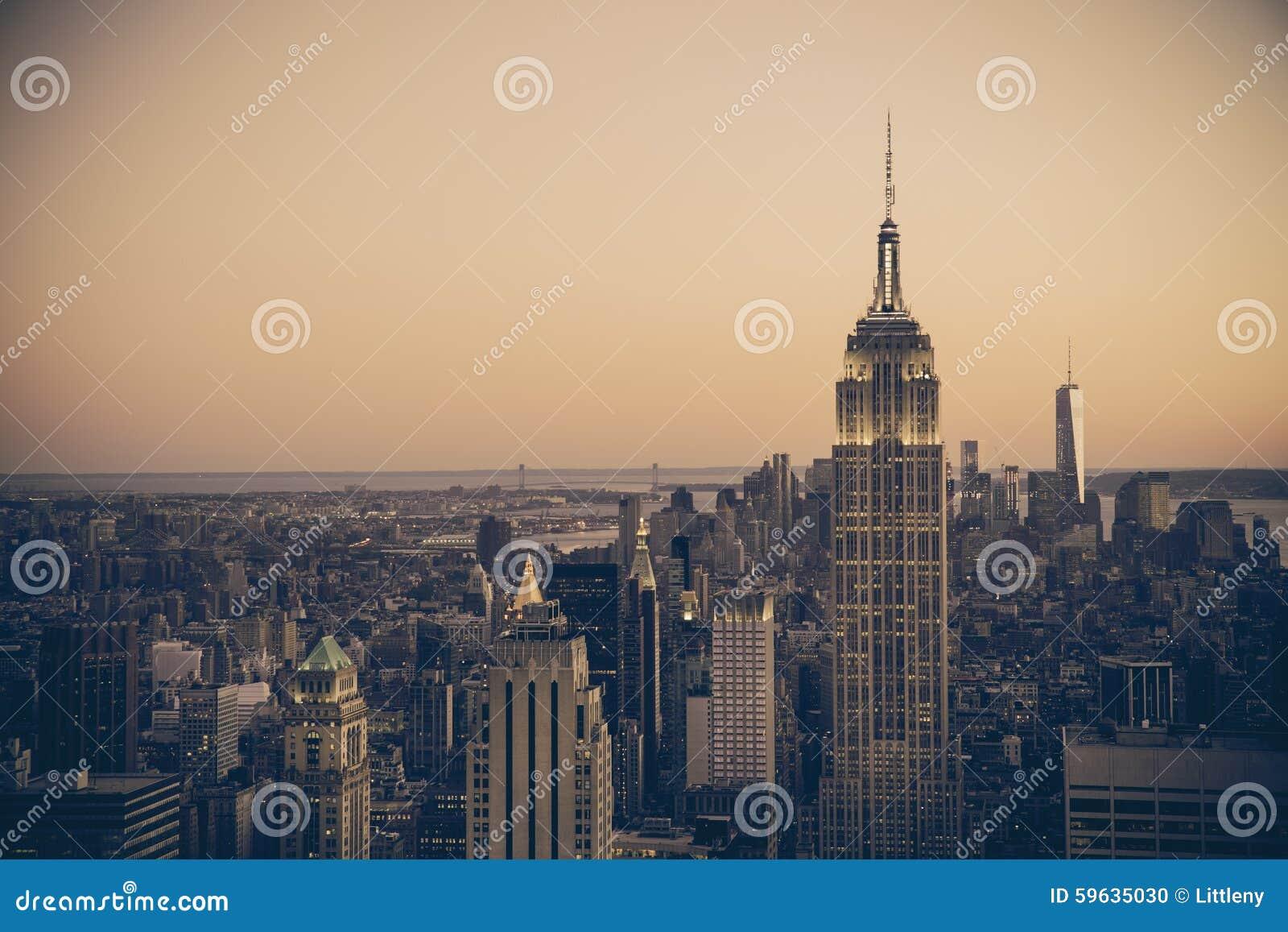 De Stads Retro Stijl van New York