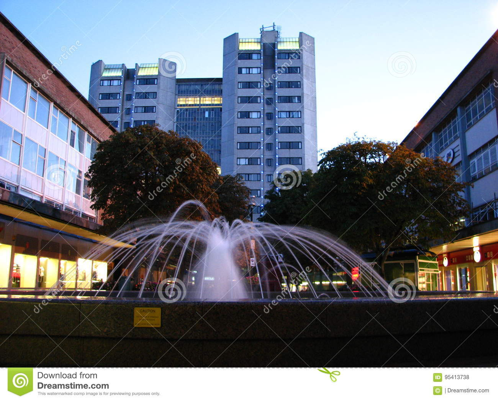 De Stadscentrum Engeland van fonteincoventry