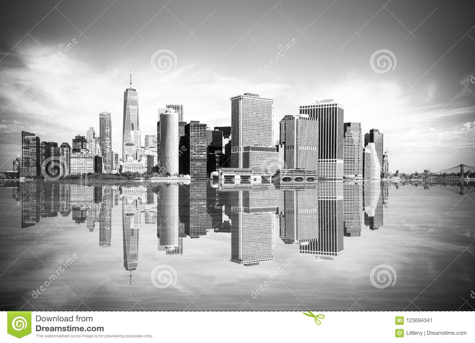 De Stadscityscape Manhattan van New York