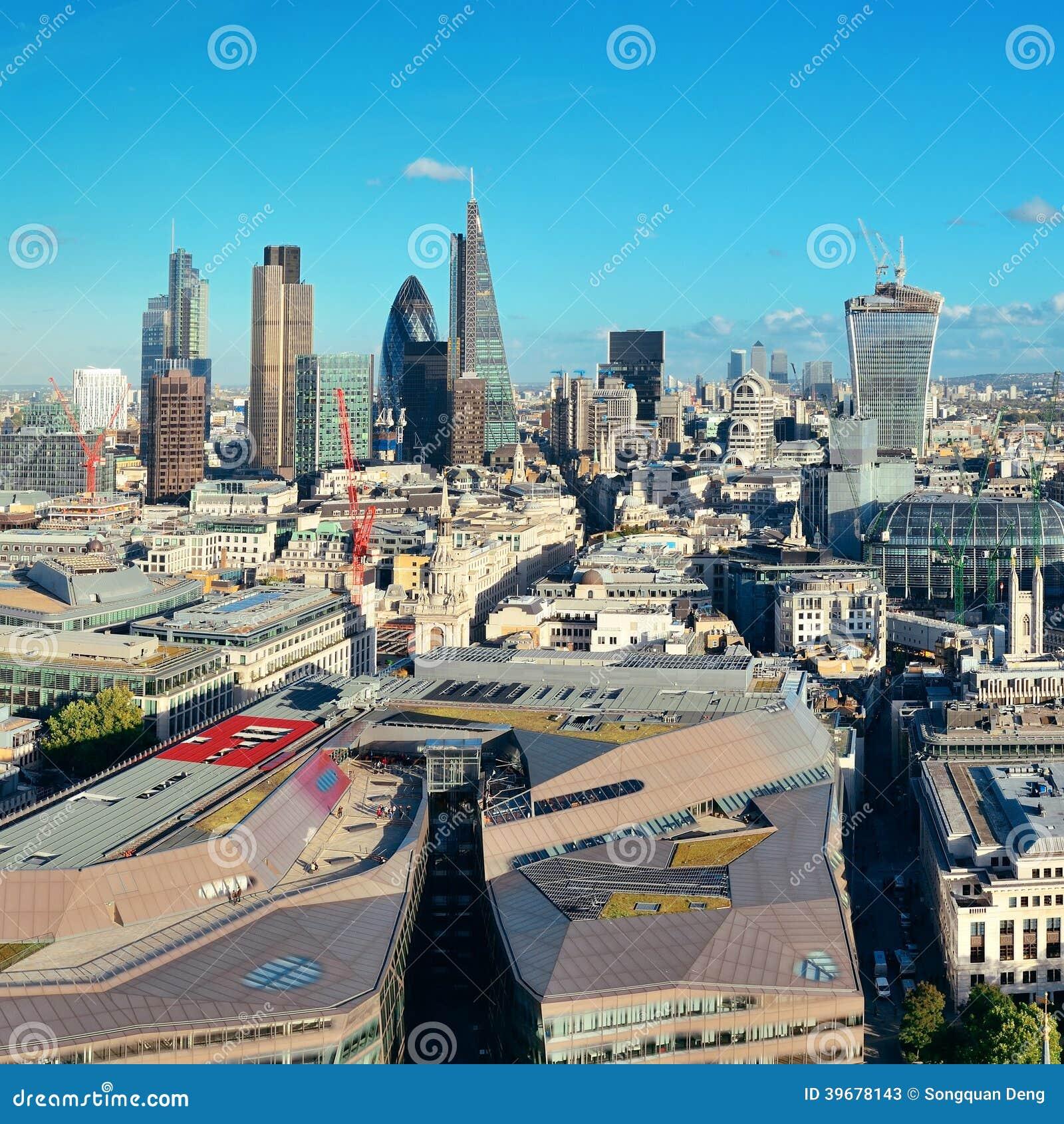 De stadsdak van Londen
