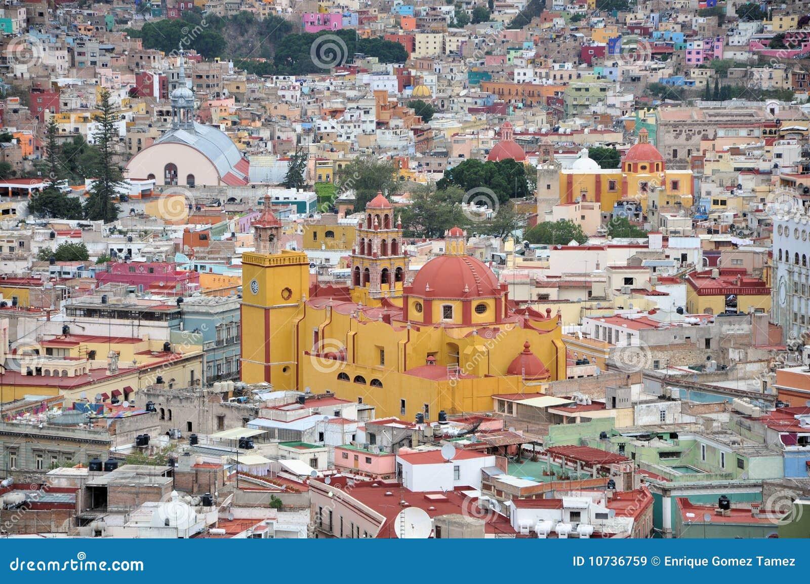 De stadsdetail van Guanajuato