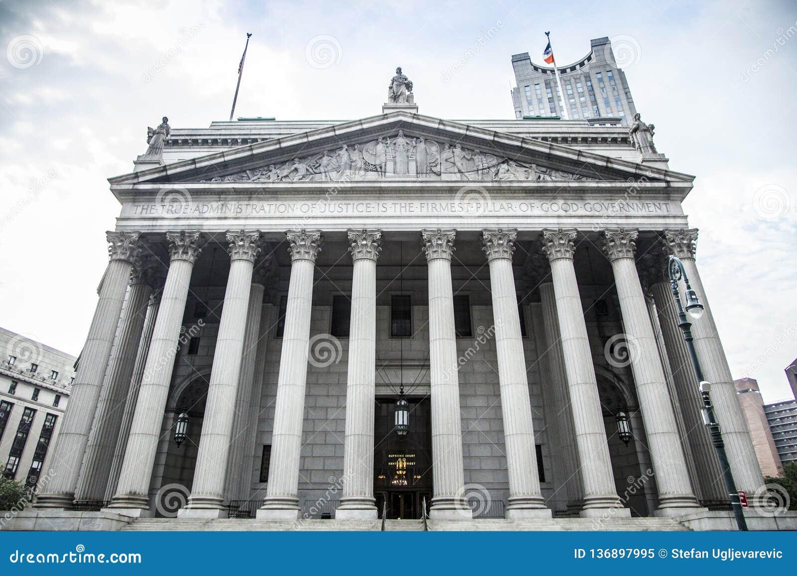 De Stadshooggerechtshof van New York tijdens dag