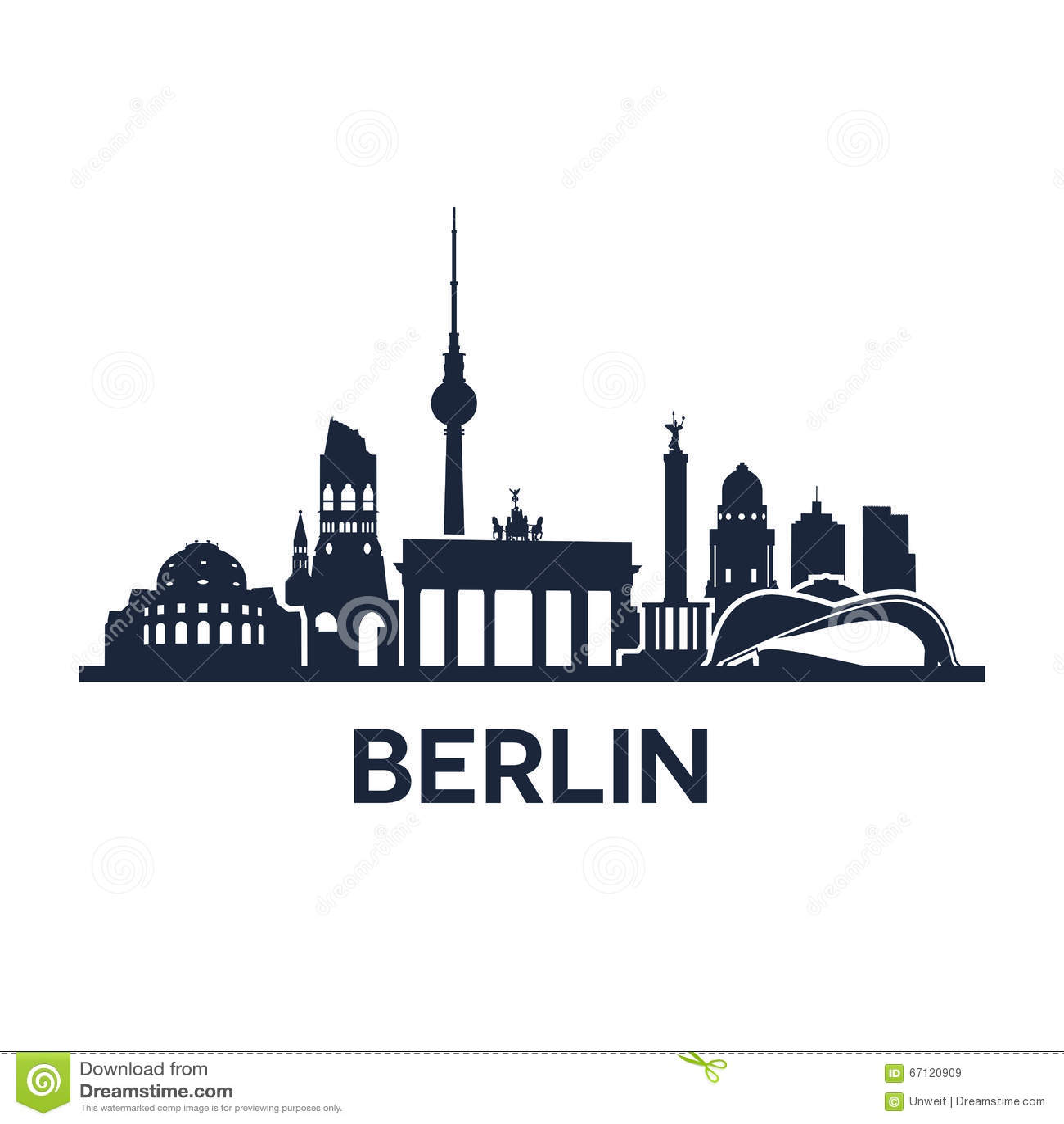 De stadshorizon van Berlijn