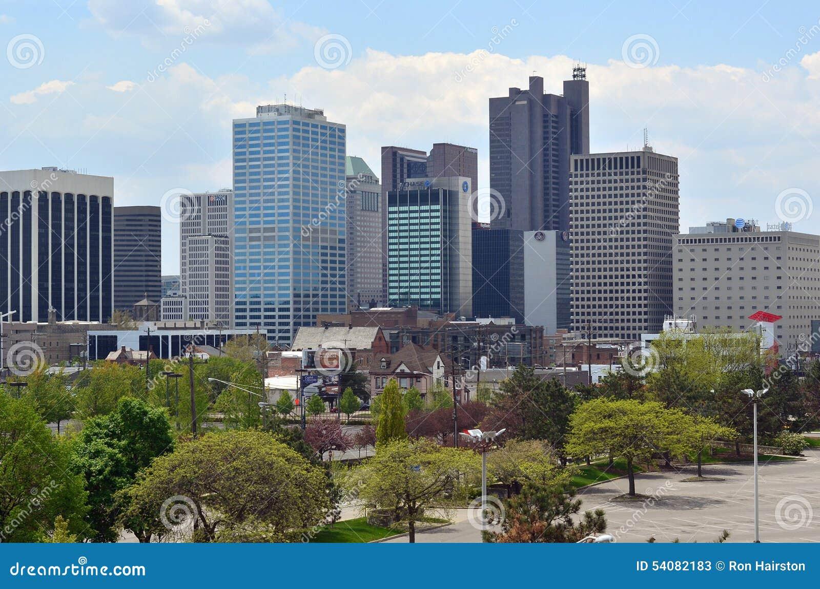 De Stadshorizon van de binnenstad