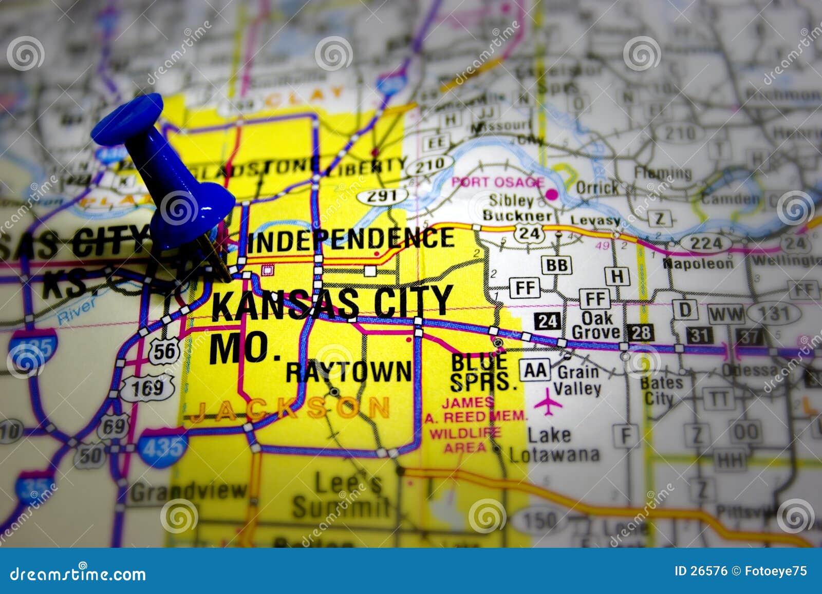 De stadskaart van Kansas
