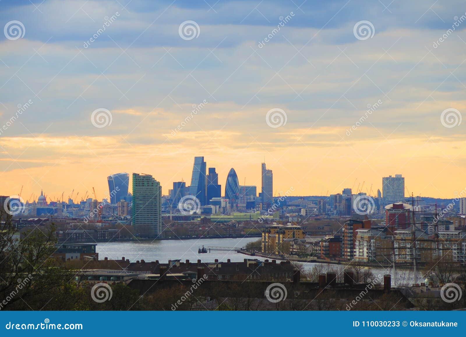 De stadslandschap van Londen