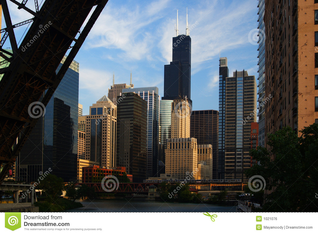 De stadsmening van Chicago