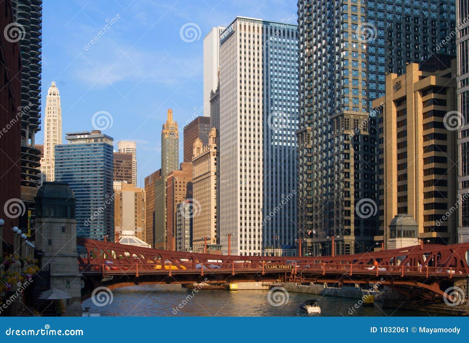 De stadsmening van Chicago
