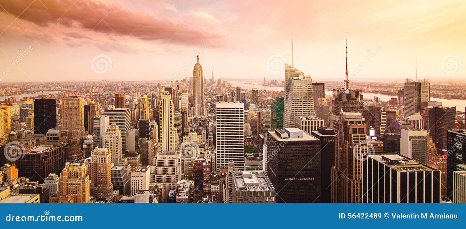 De stadspanorama van New York