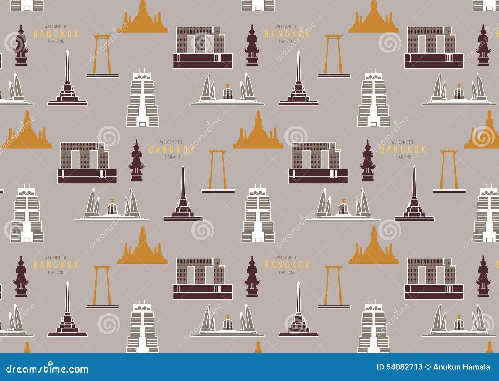 De stadspatroon van Bangkok Thailand