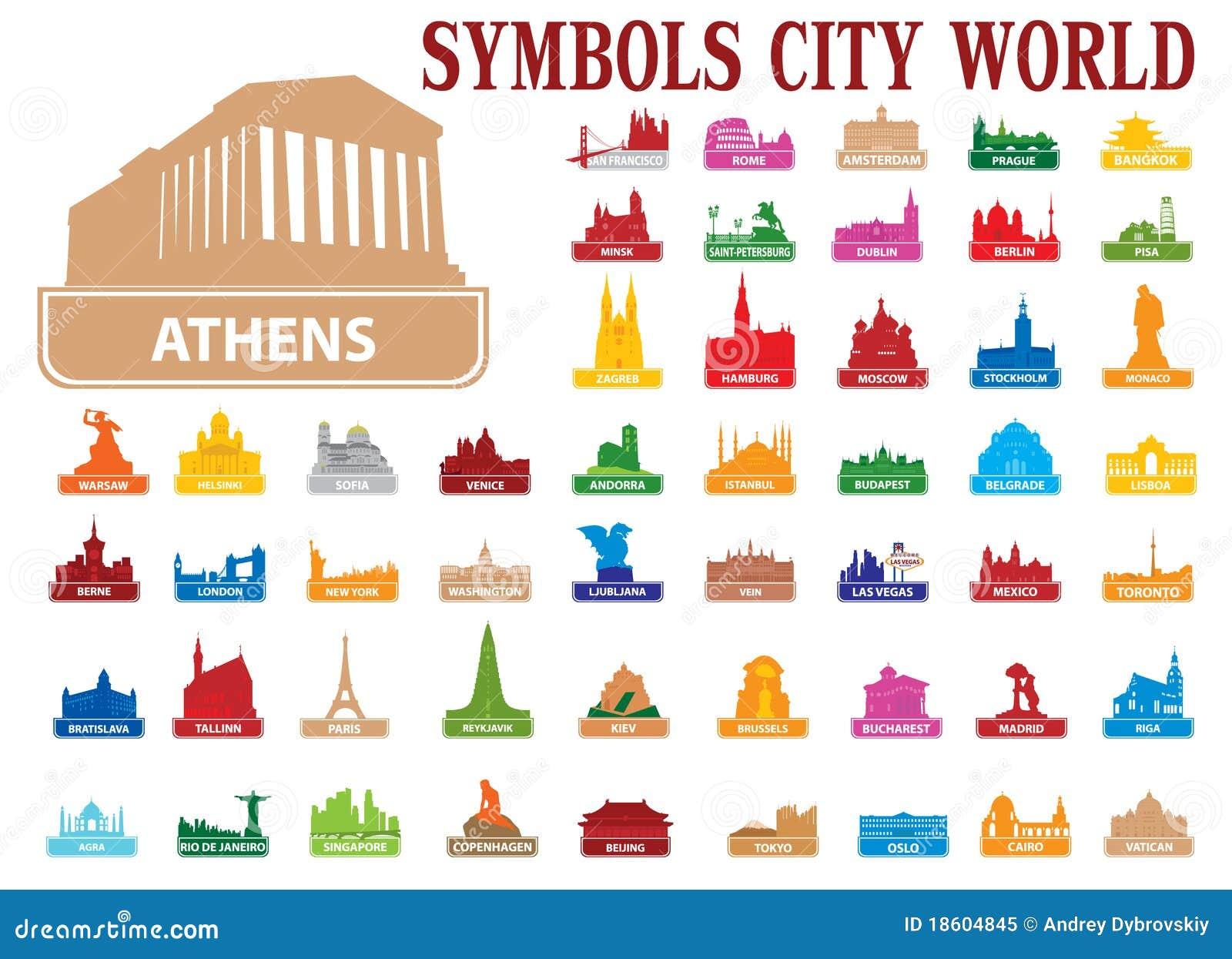 De stadswereld van symbolen