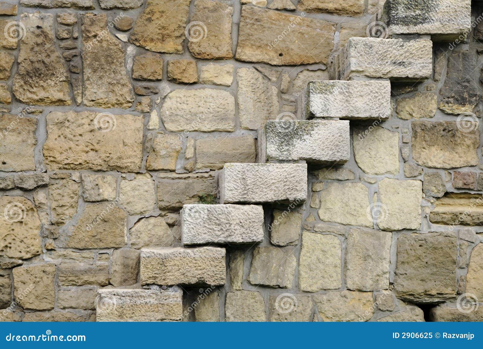 De stappen van rotsen