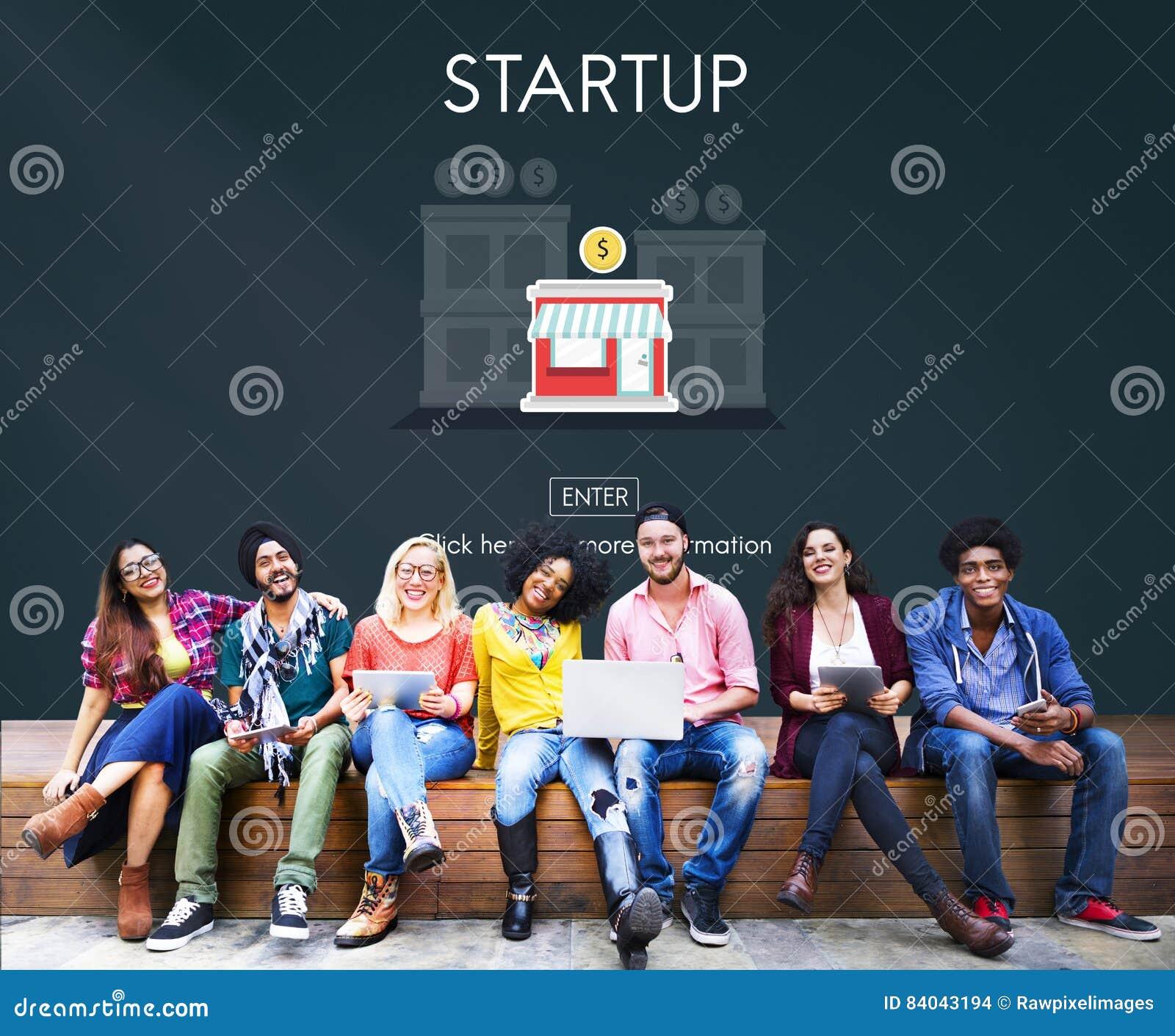De start Nieuwe Bedrijfsstrategie investeert Concept