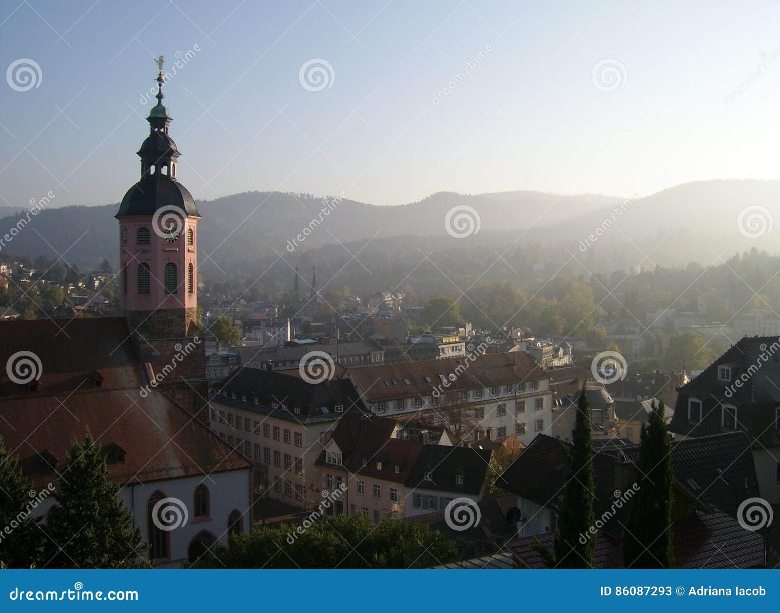 De stedelijke architectuur van Baden Baden
