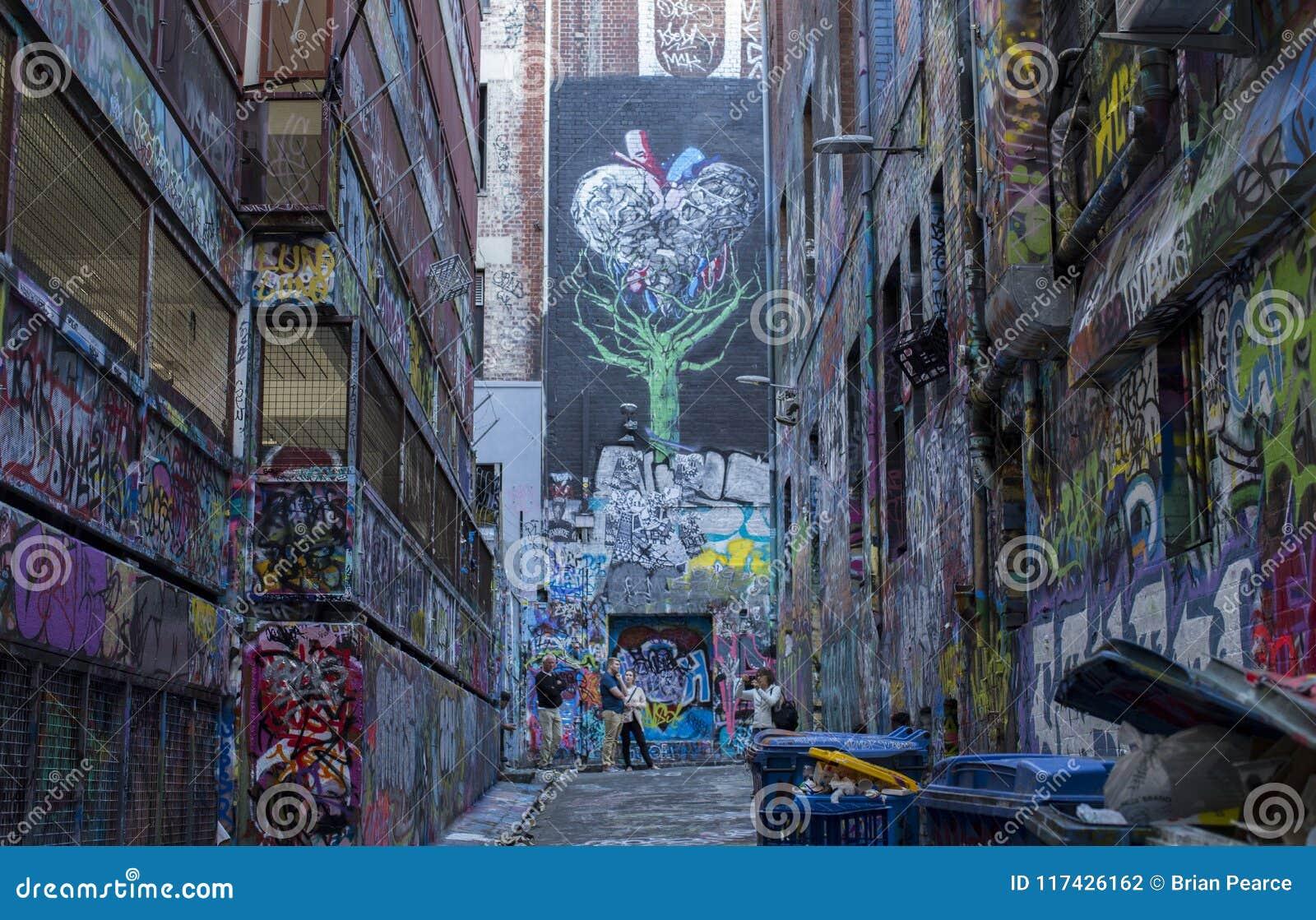 De Stedelijke Steeg Street Art van Melbourne