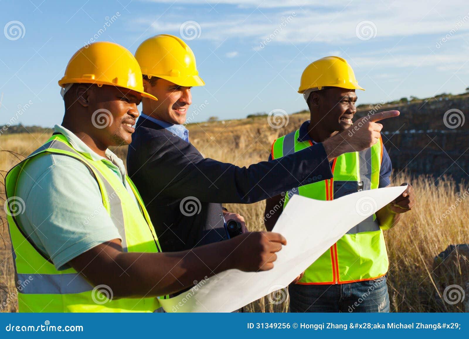 De steengroeve van de managerarbeider