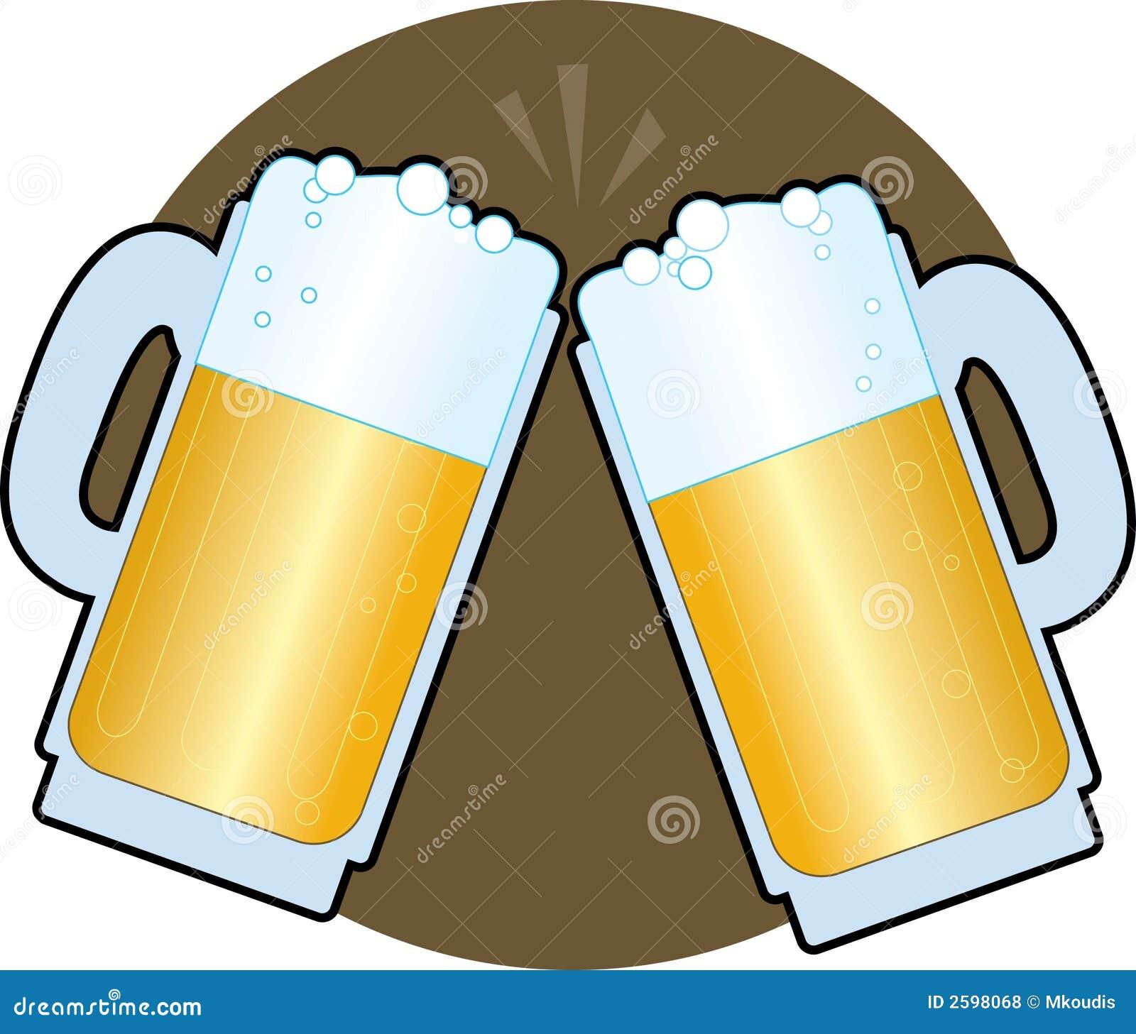De Stenen bierkroezen van het bier