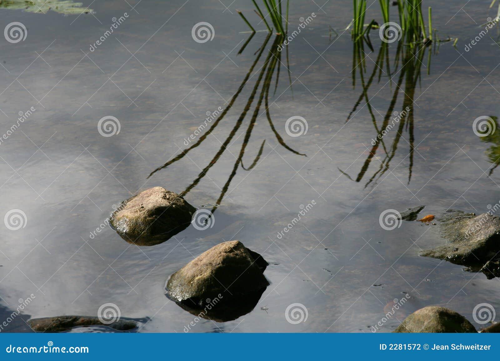 De stenen van het meer