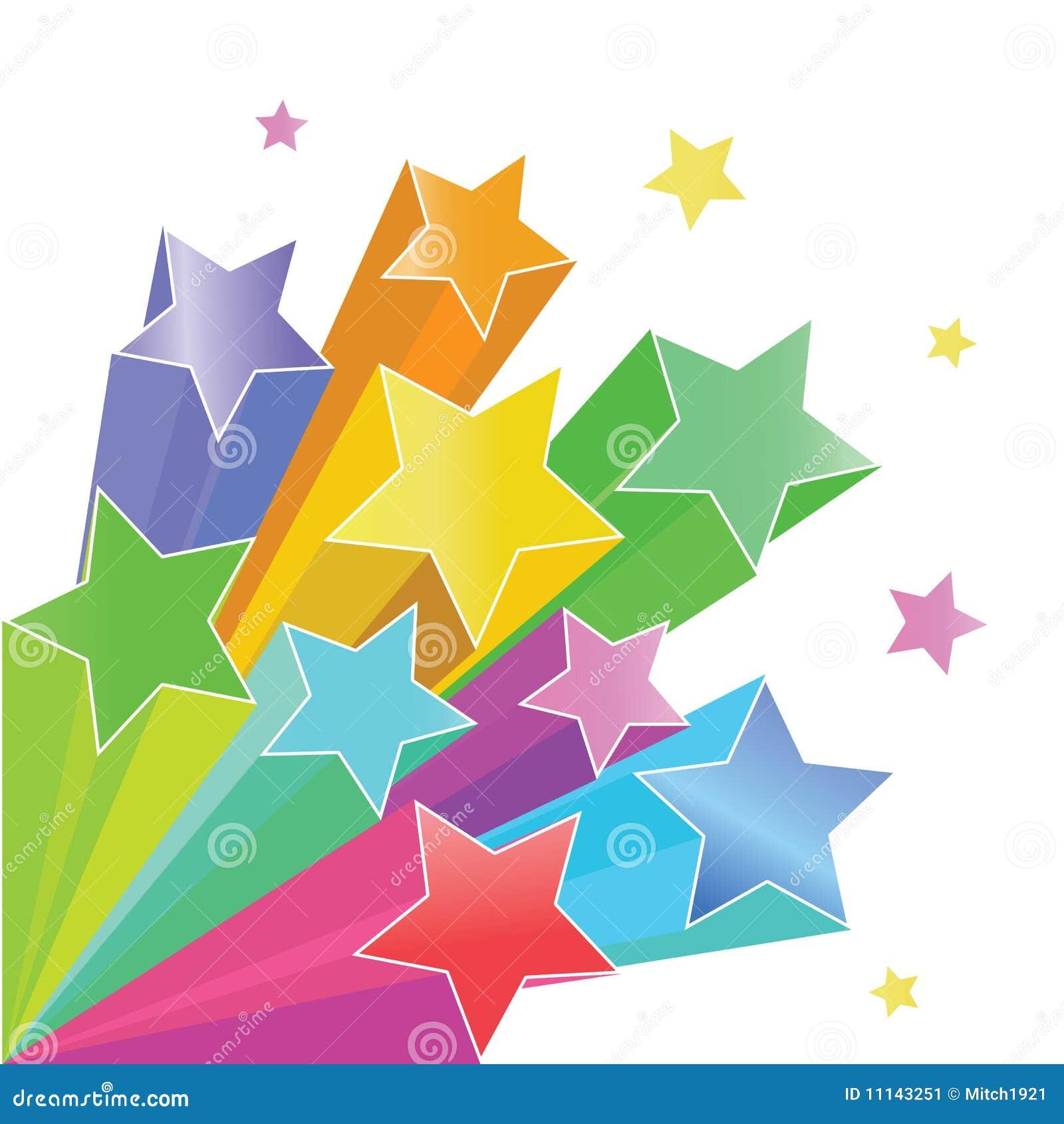 De sterren van de regenboog