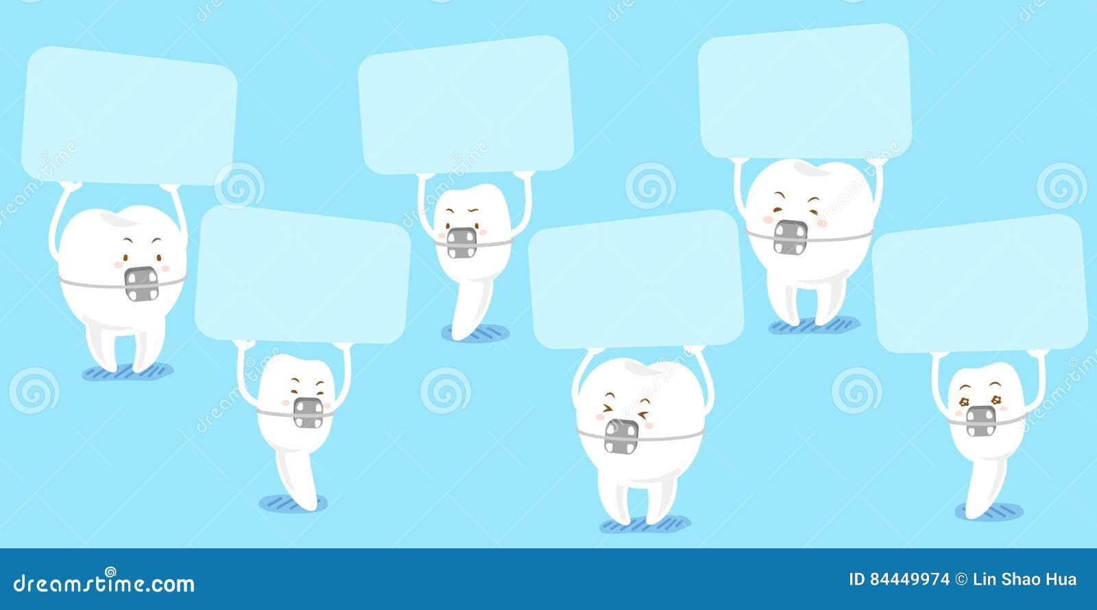 De steun van de tandslijtage neemt aanplakbord