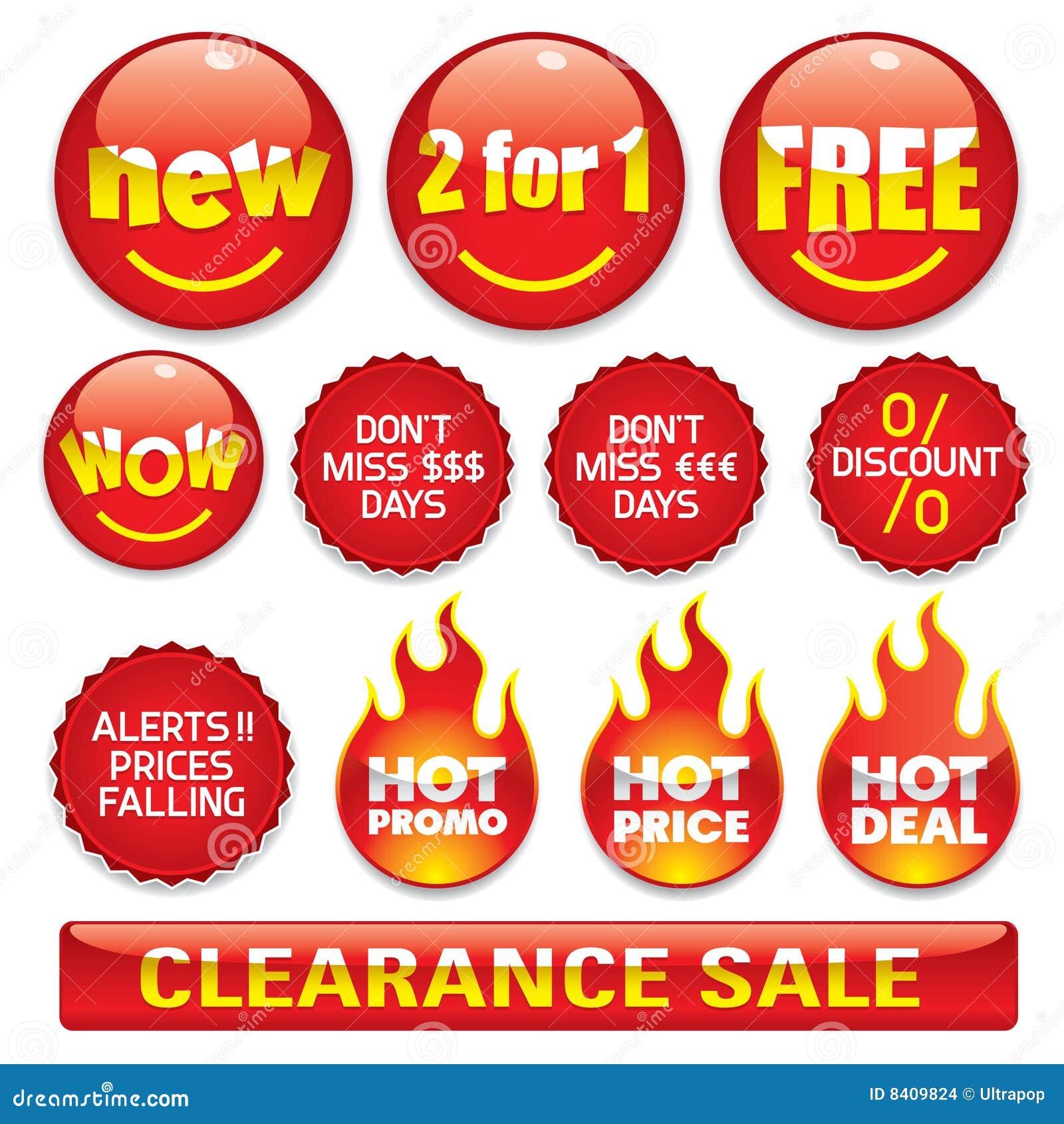 De stickers van de verkoop #2