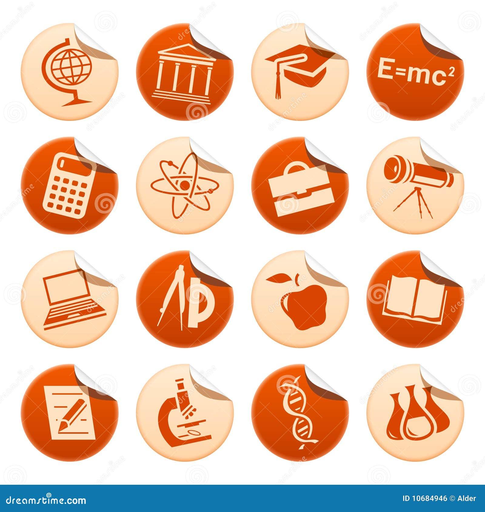 De stickers van de wetenschap & van het onderwijs