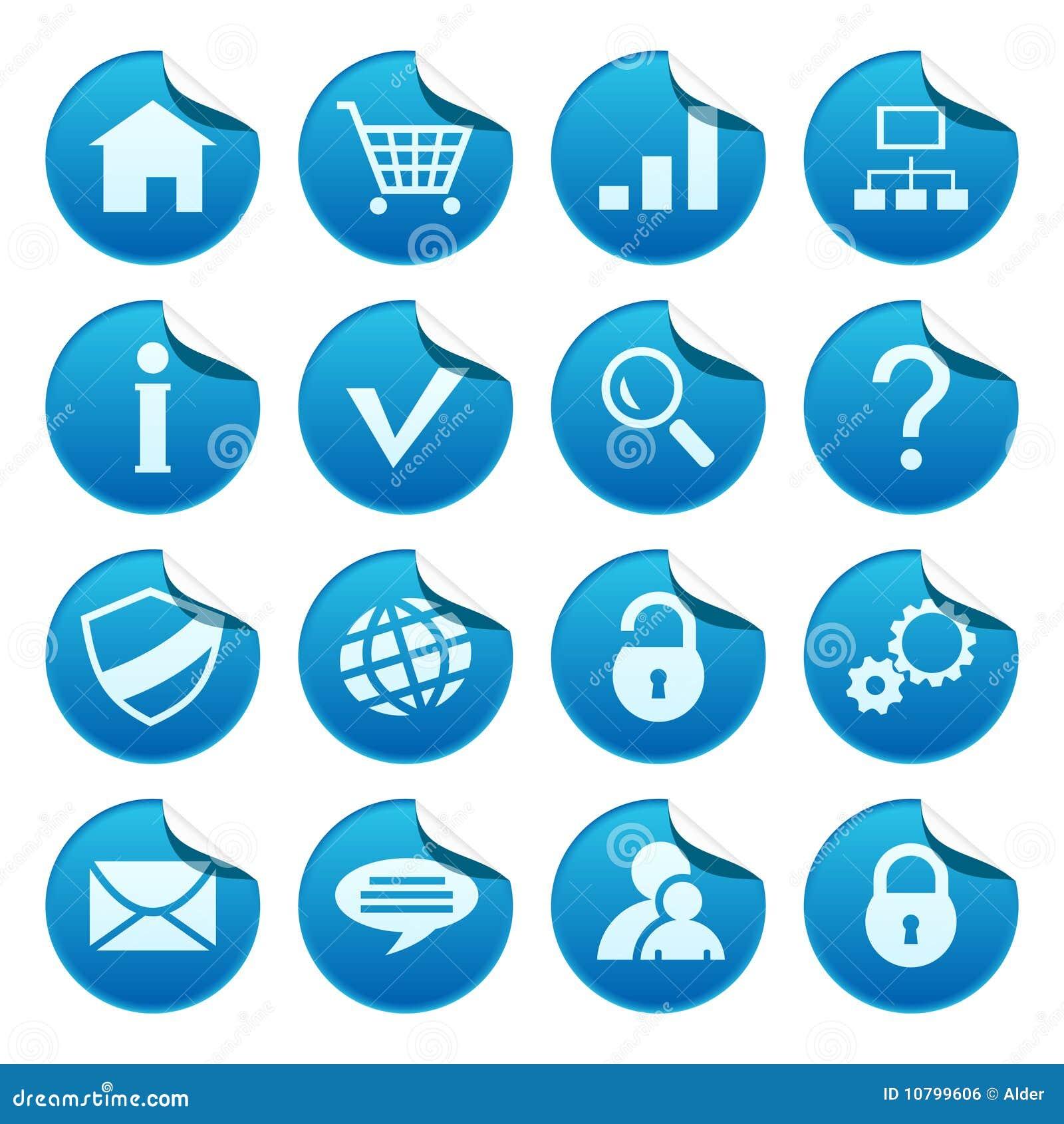 De stickers van het Web