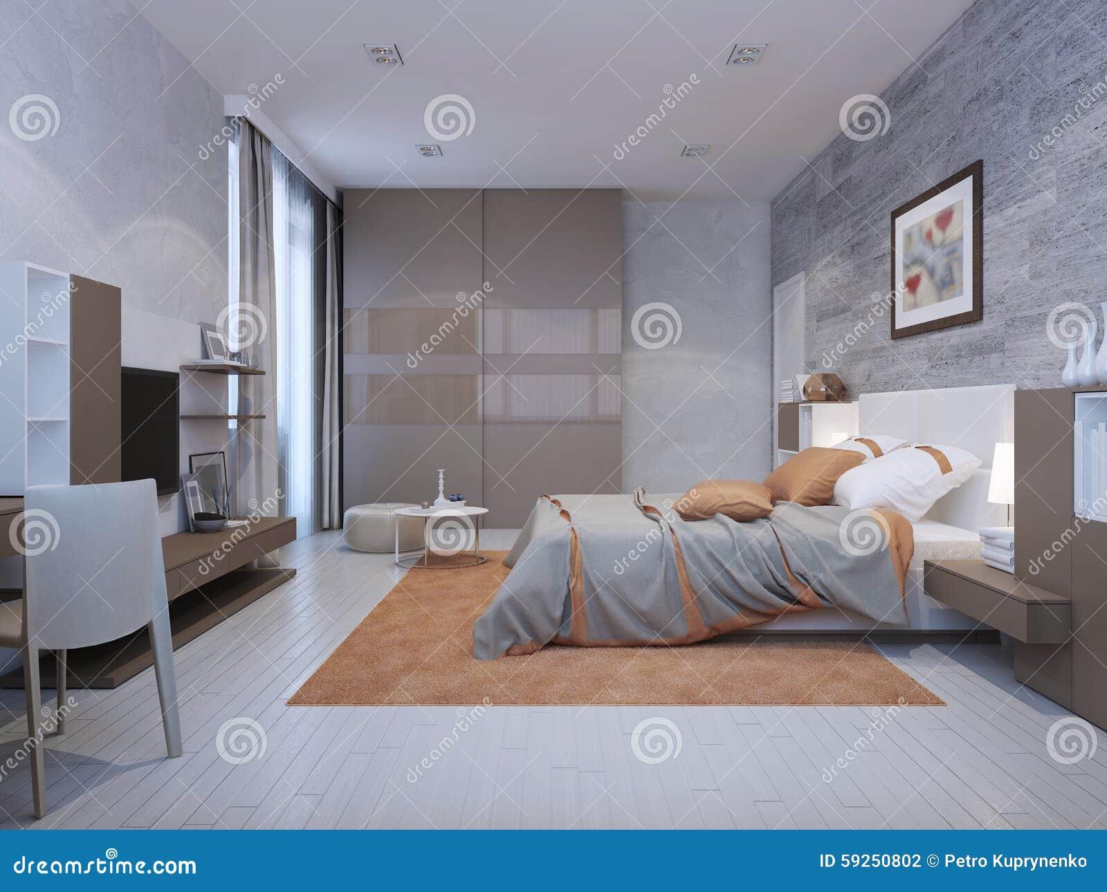 De stijl van het slaapkamerart deco stock illustratie