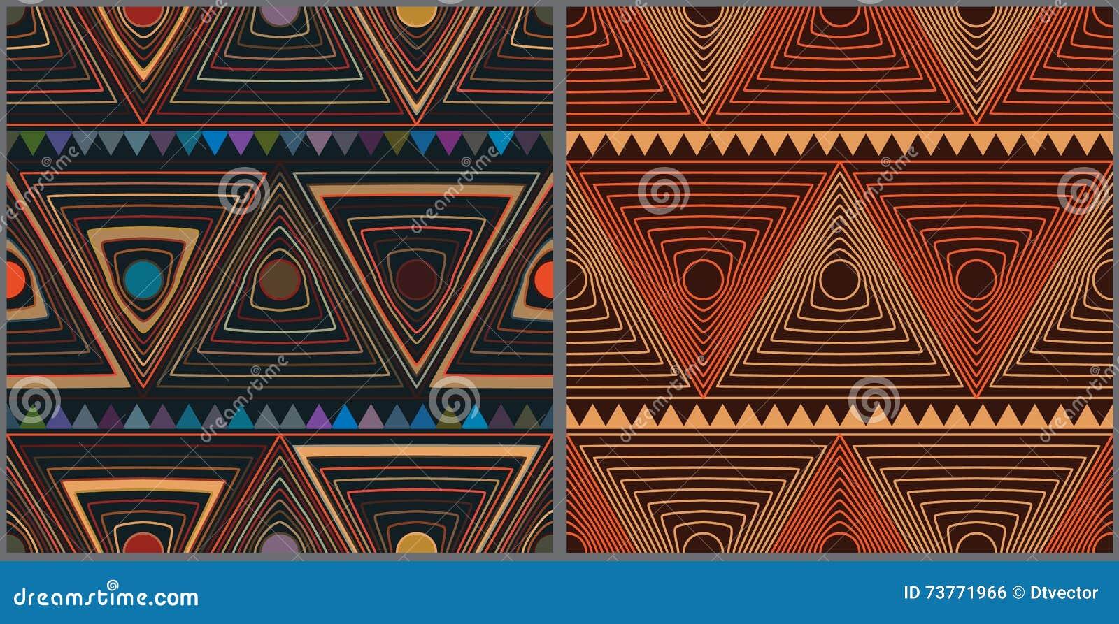 De stijl vastgesteld naadloos patroon van de cirkeldriehoek