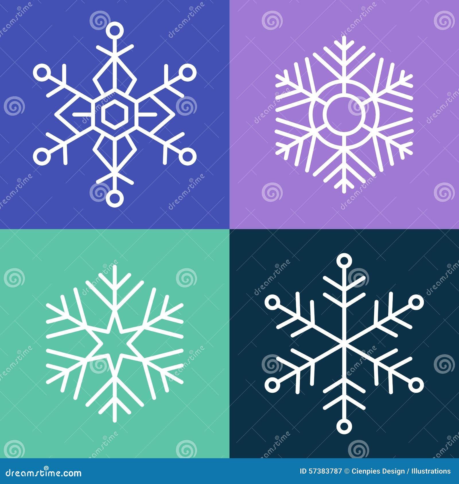 De stijl vastgestelde illustratie van de sneeuwvloklijn