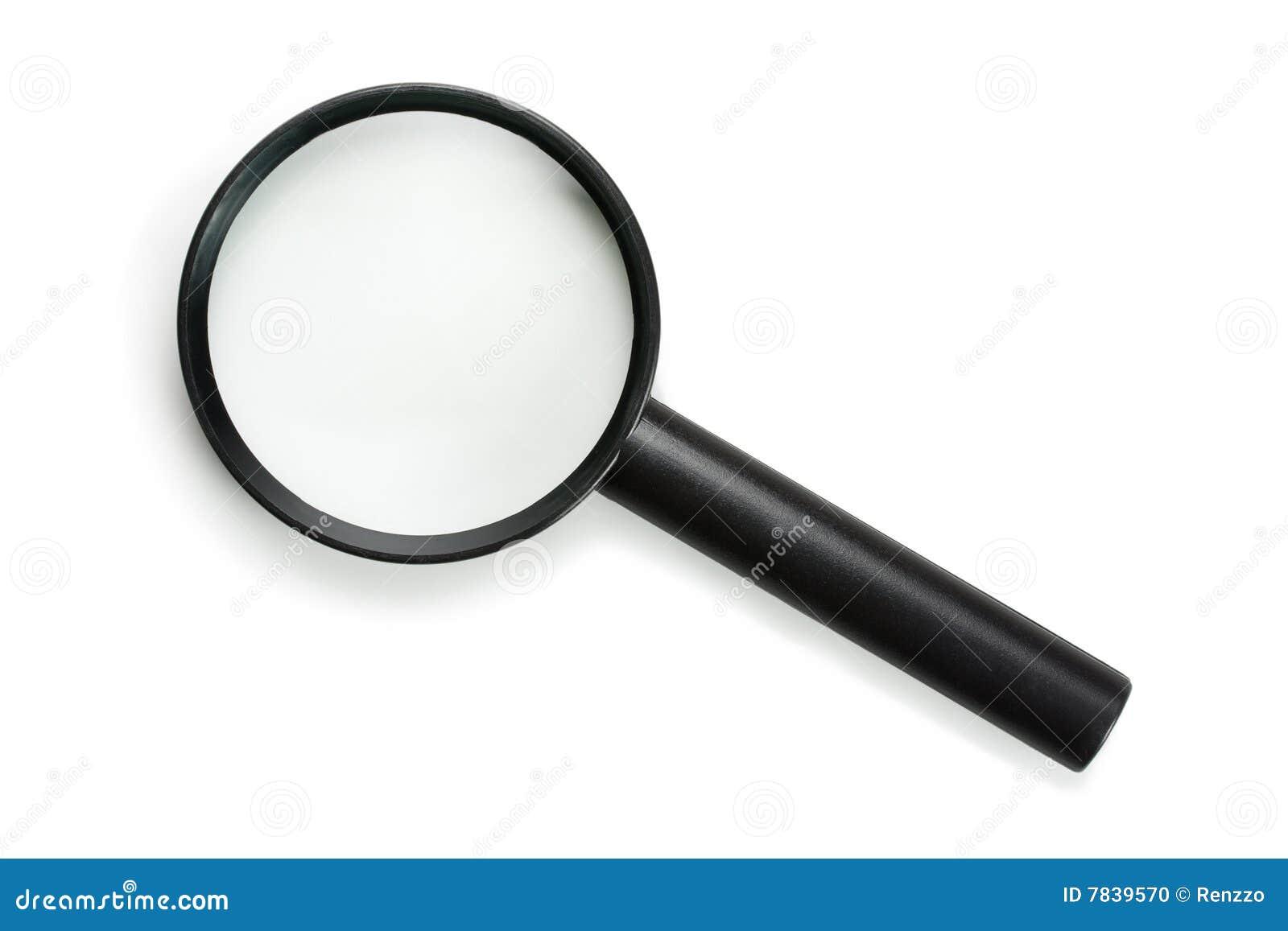 De stijlvergrootglas van het pictogram, dat op wit wordt geïsoleerd¯