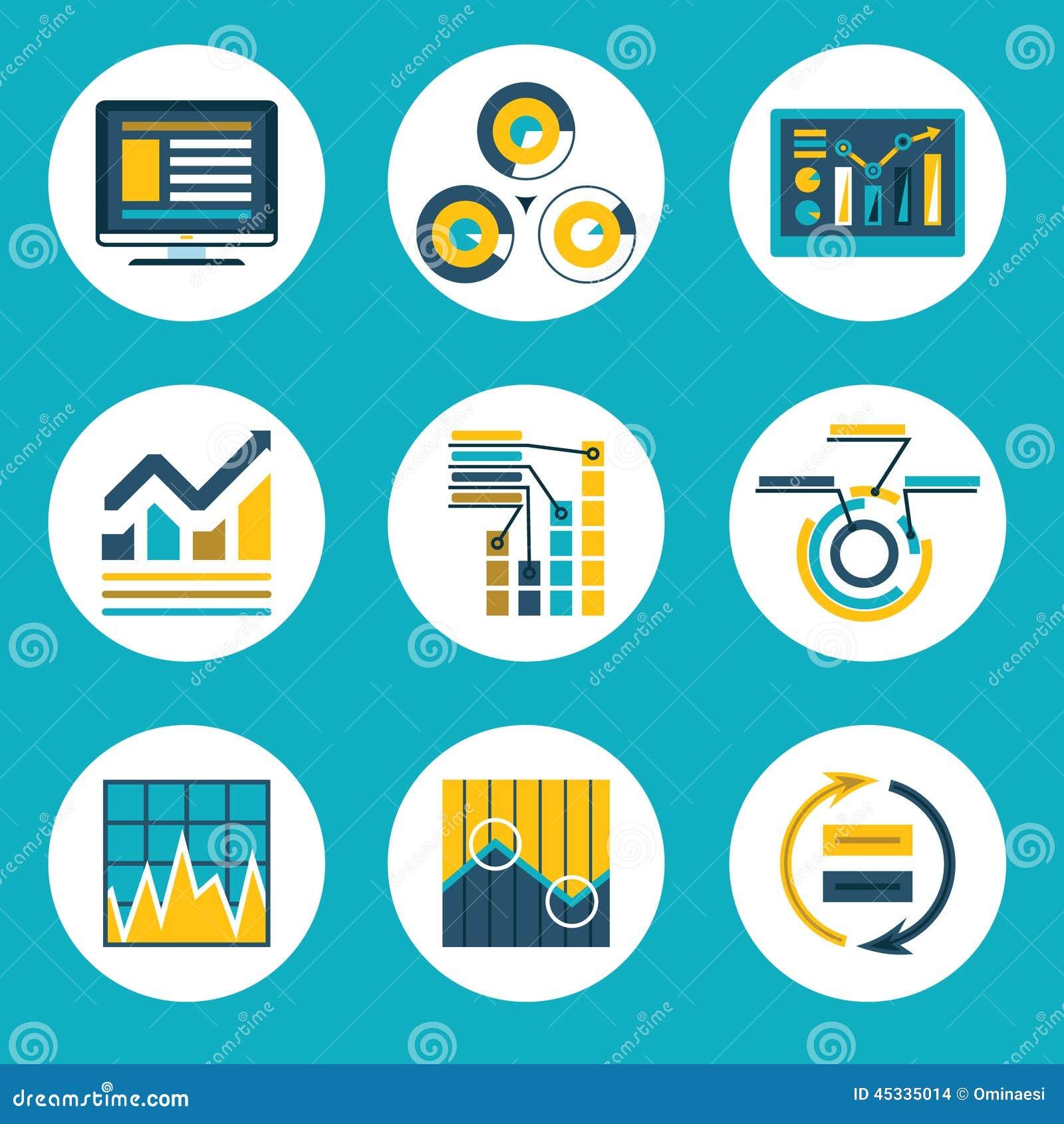 De Stijlzaken Infographics van het gegevens Retro Vlakke Ontwerp