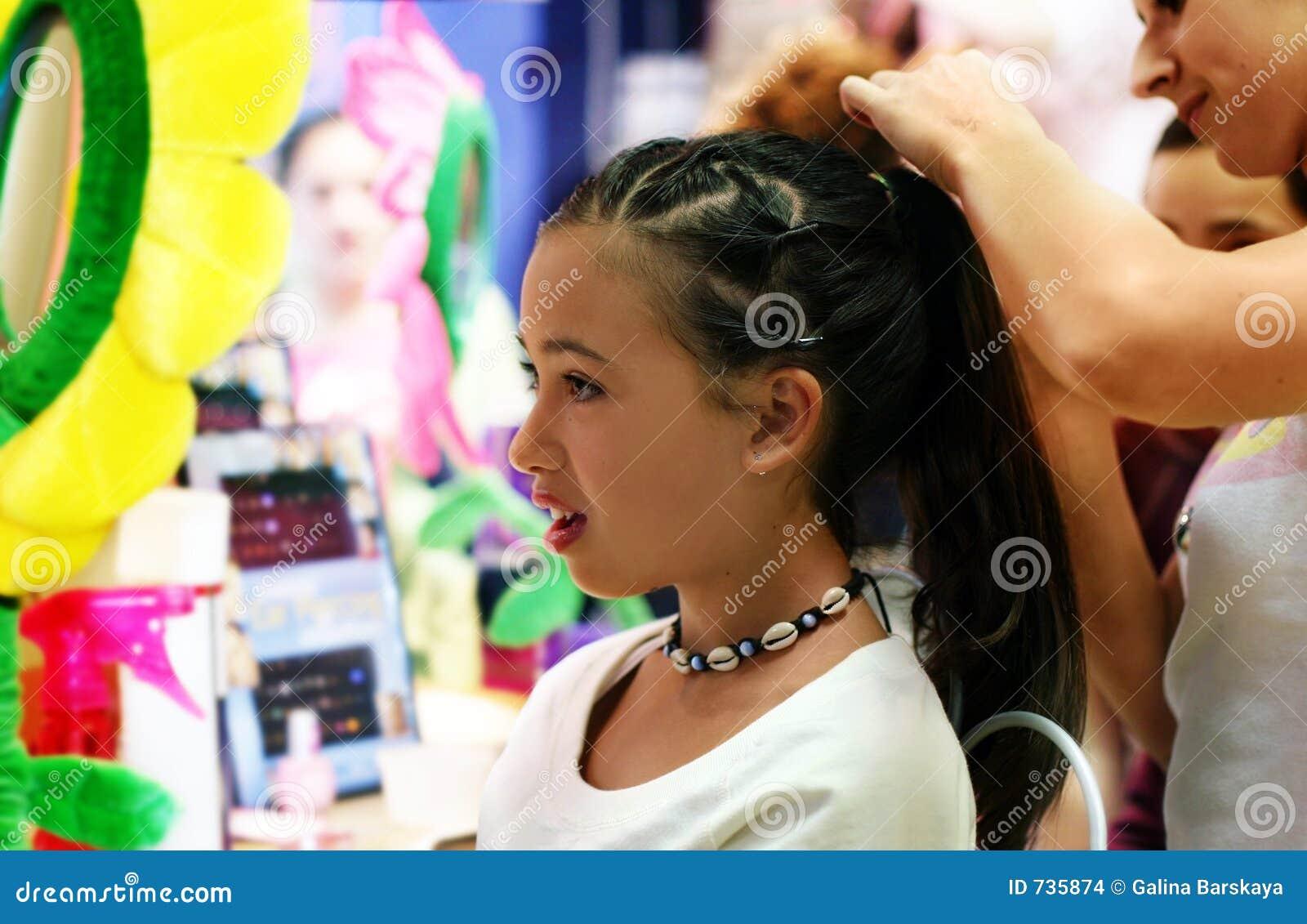 De stilerende partij van het haar