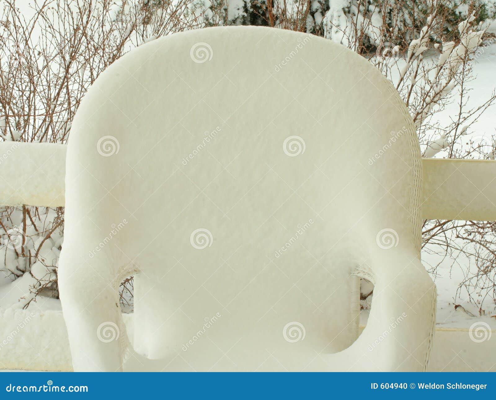 De stoel van de sneeuw