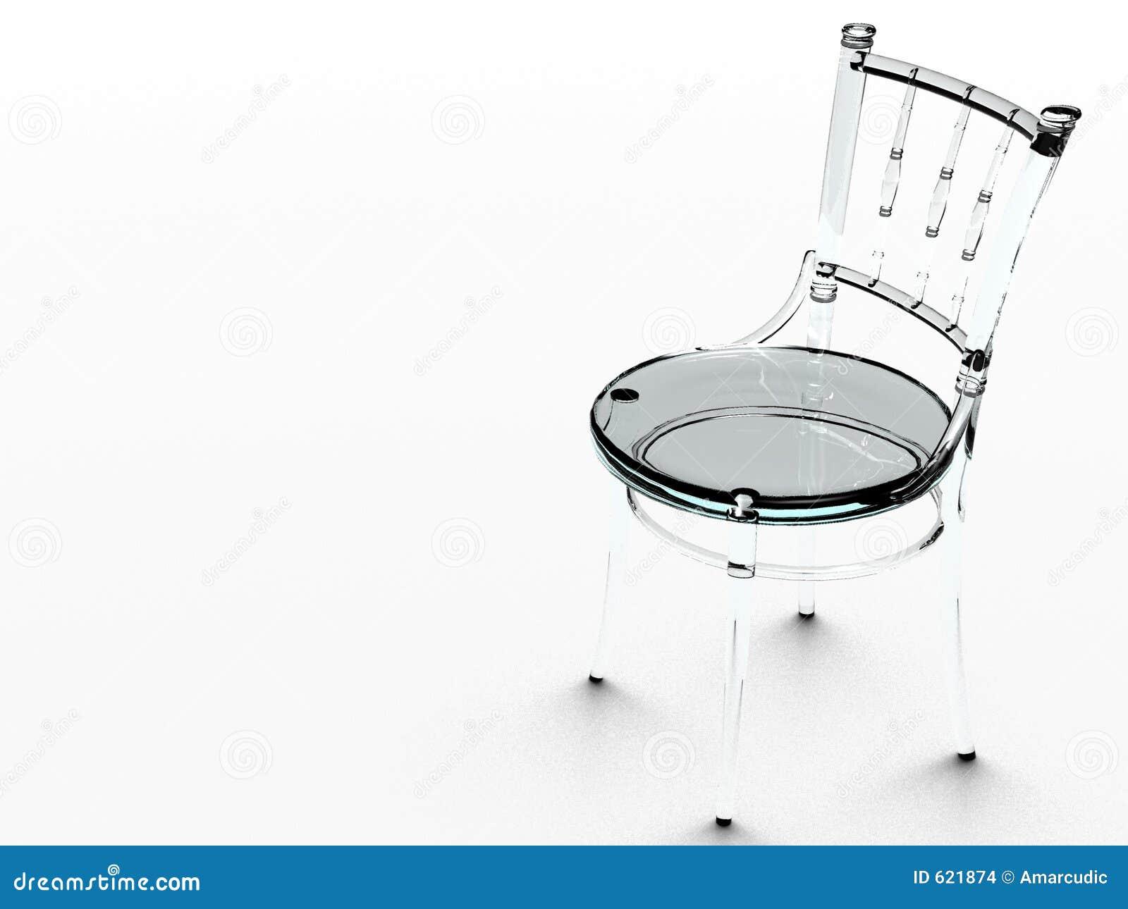 De stoel van het glas