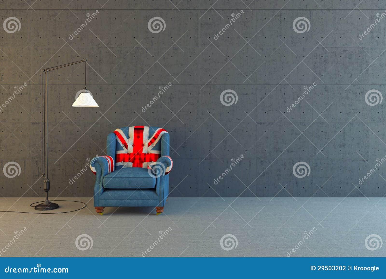De stoel van Union Jack