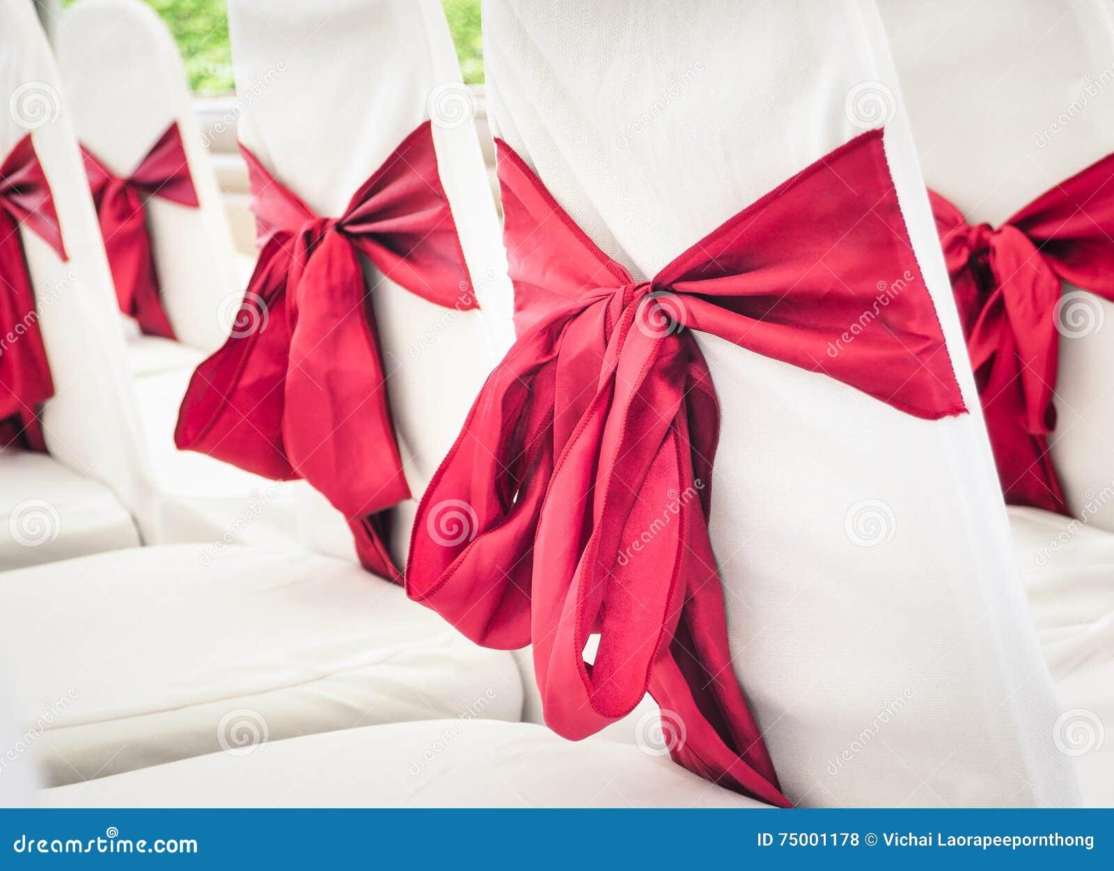 De stoelendecoratie van het huwelijk