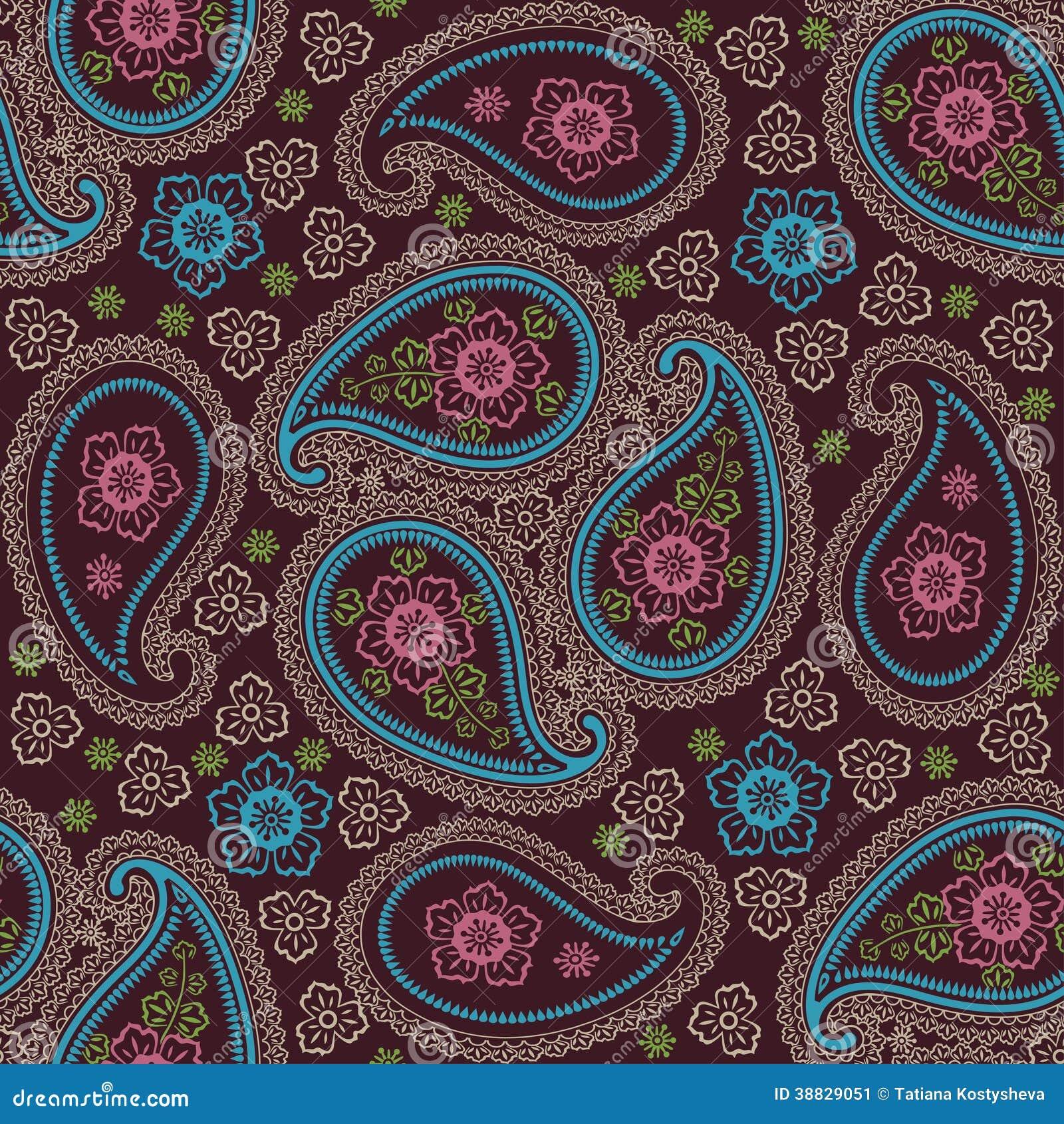 De stoffen naadloos patroon van paisley stock illustratie afbeelding 38829051 - Oosters stof ...