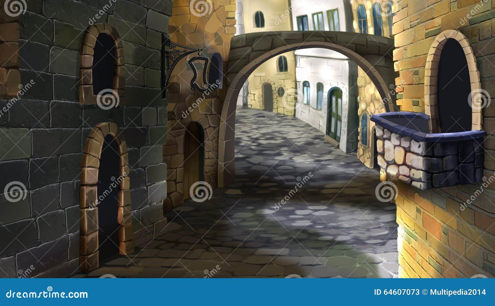 De straat in de oude stad