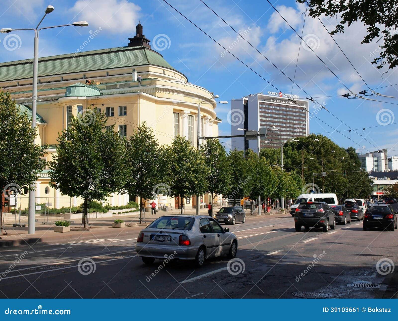 De straatmening van de Tallinstad. Tallinn
