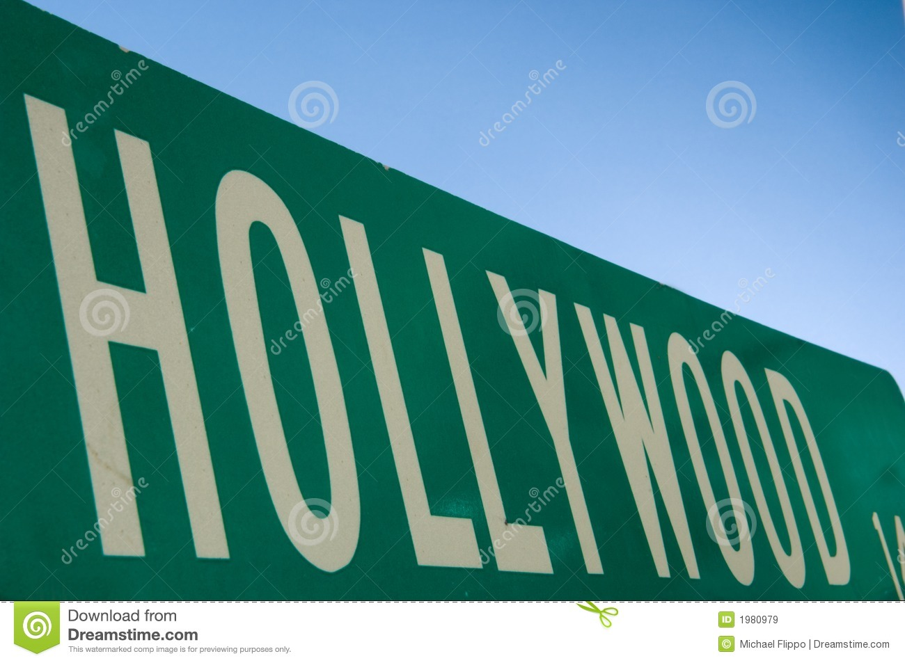 De straatteken van Hollywood