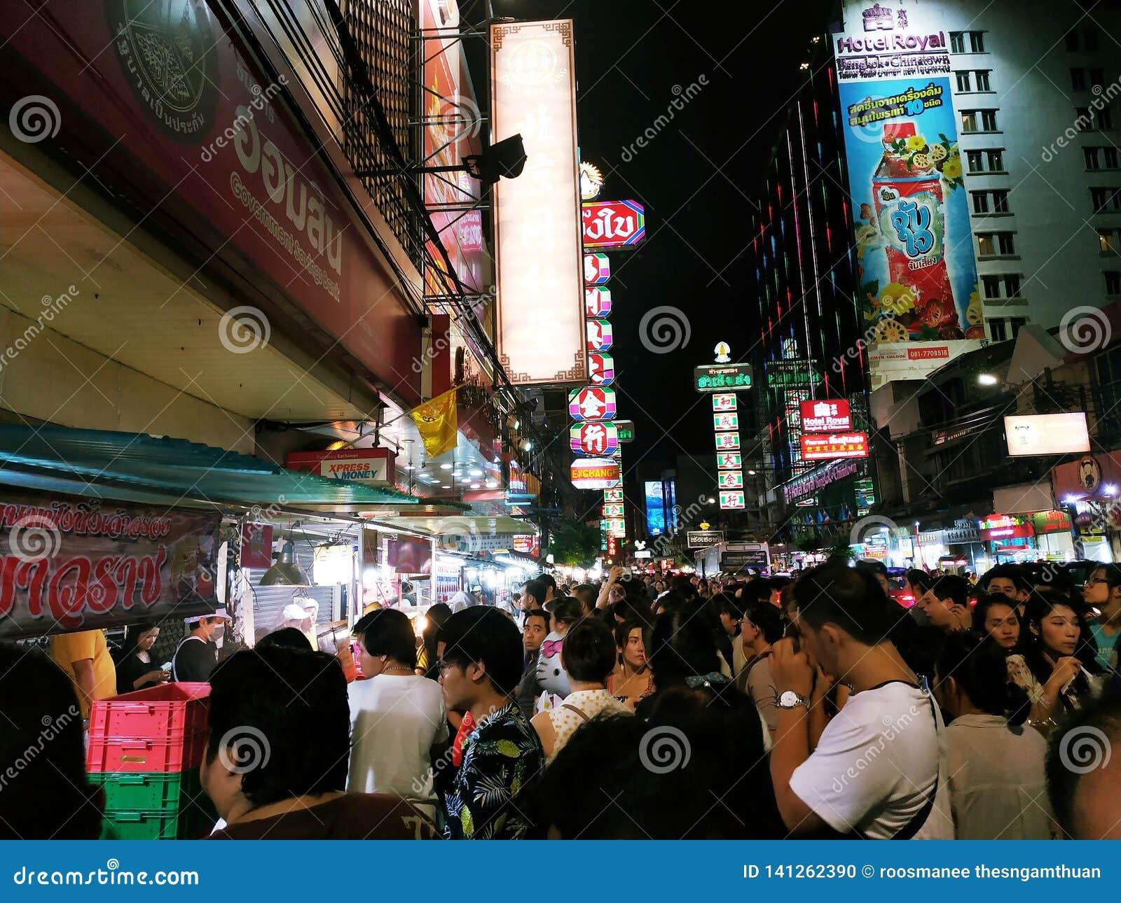 De Straatvoedsel van China in Thailand