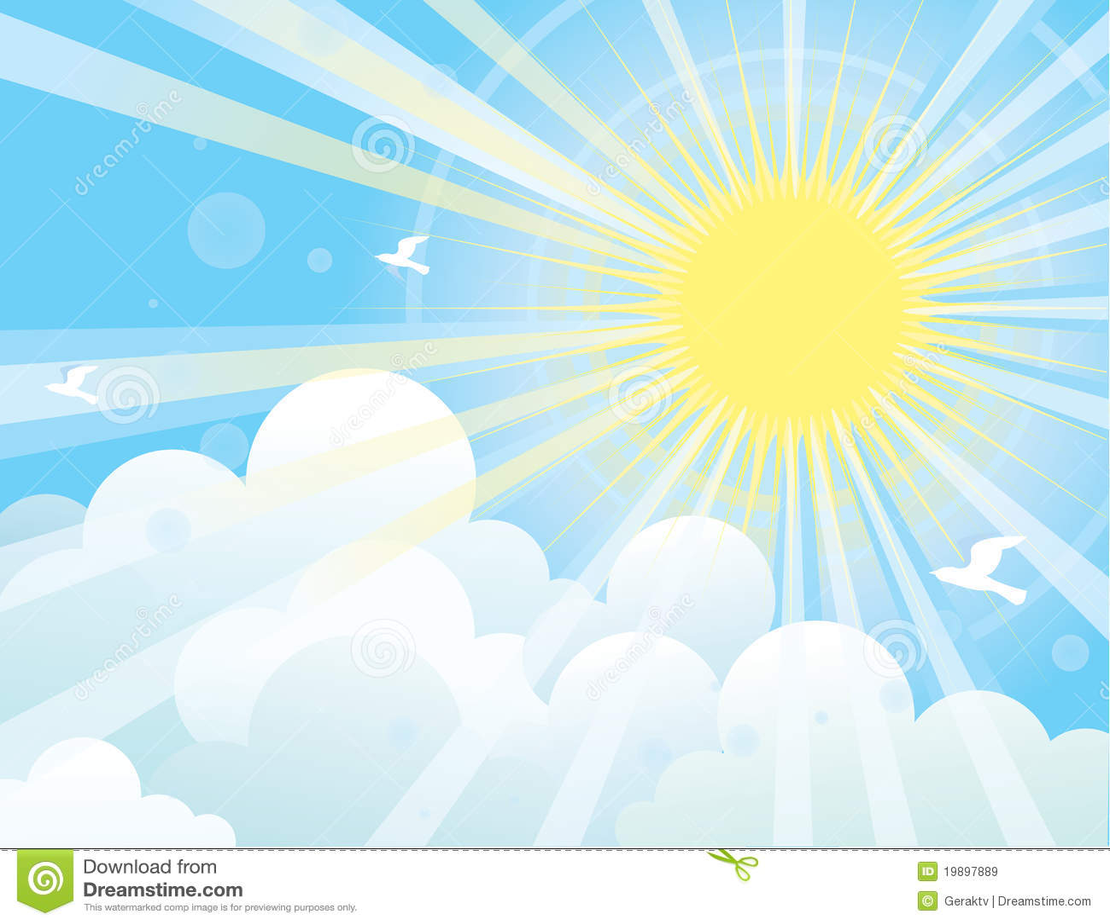 Небо с солнцем рисунок