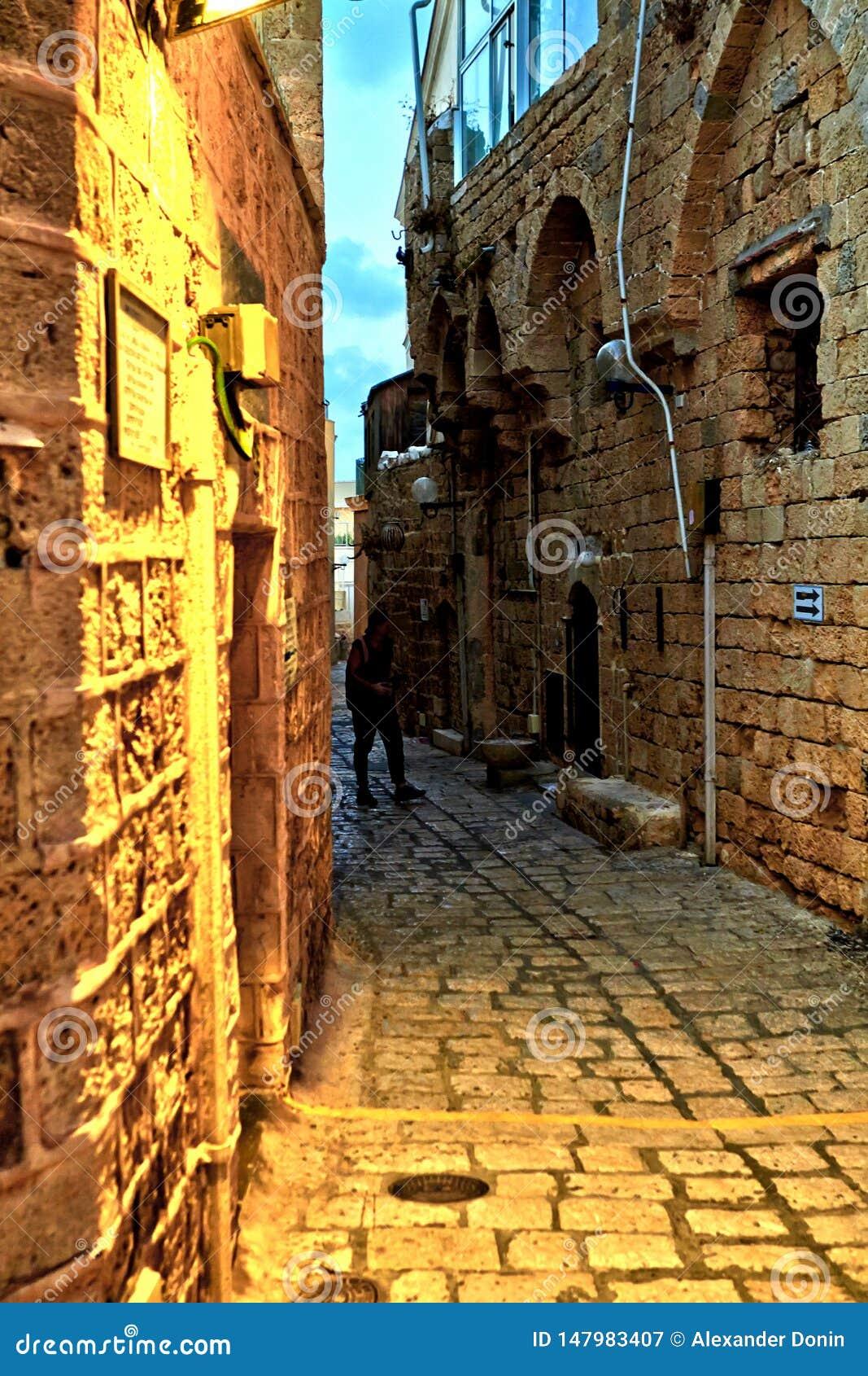 De straten van Oude Jaffa
