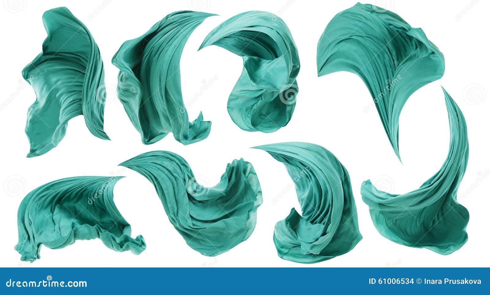 De Stromende Wind van de stoffendoek, Textiel Witte Golf Vliegende Motie,