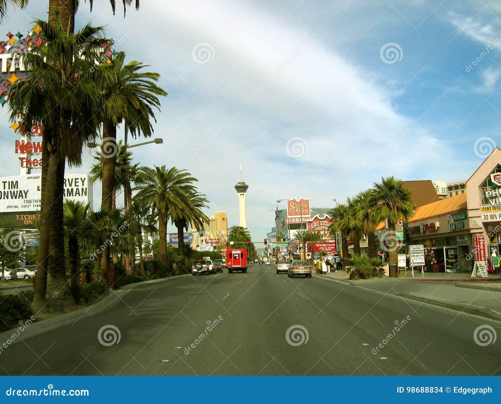 De Strookrubriek van Las Vegas aan de Stratosfeer, Las Vegas, Nevada