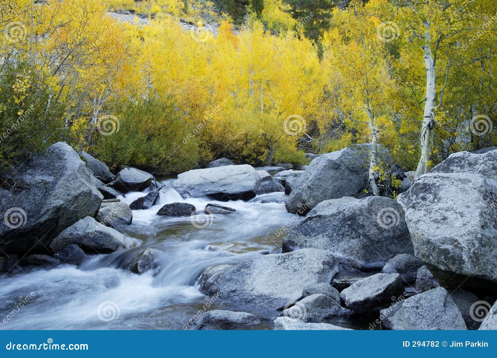 De Stroom van de berg, de Kleuren van de Daling