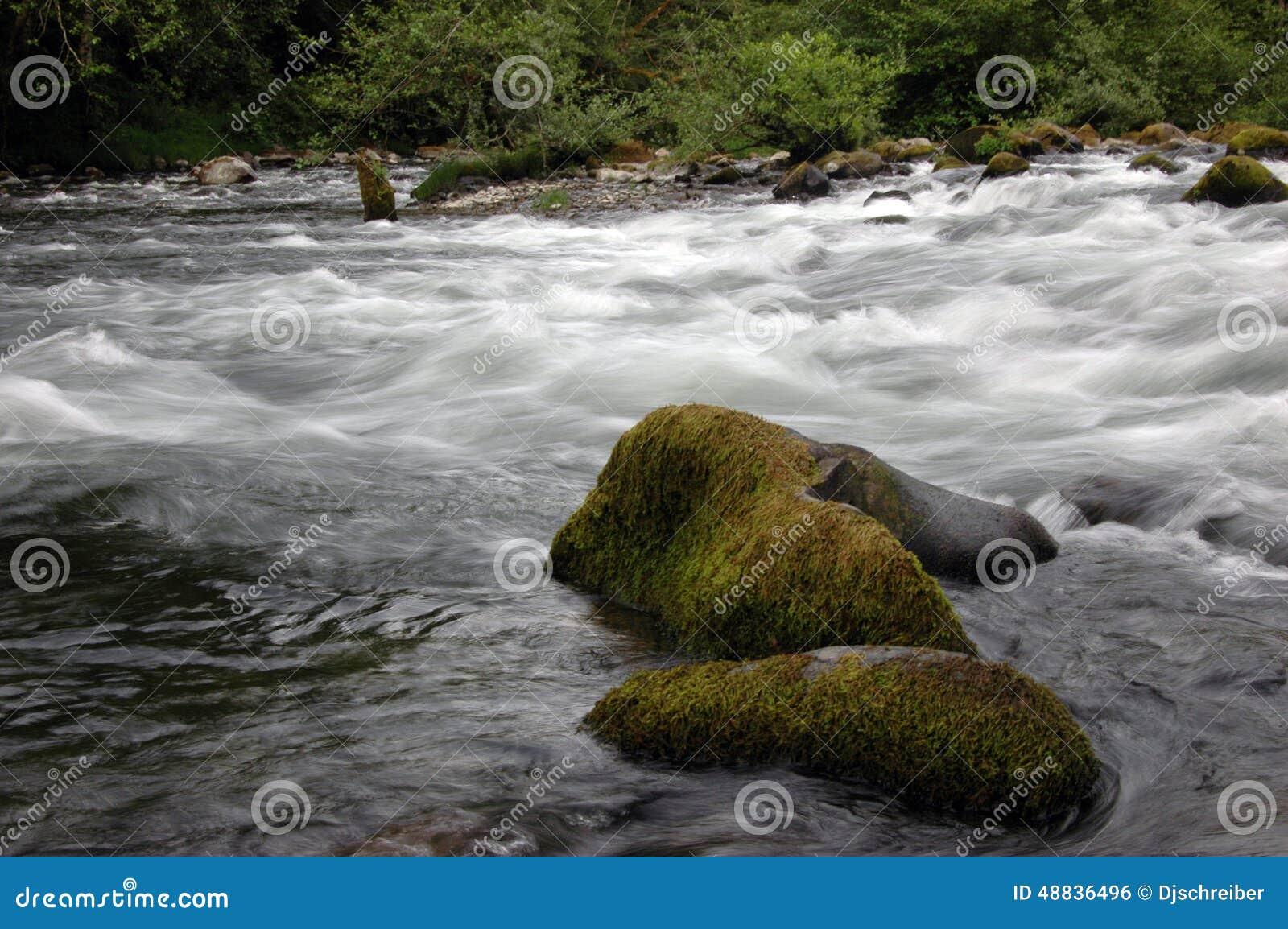 De Stroom van de cascadeberg