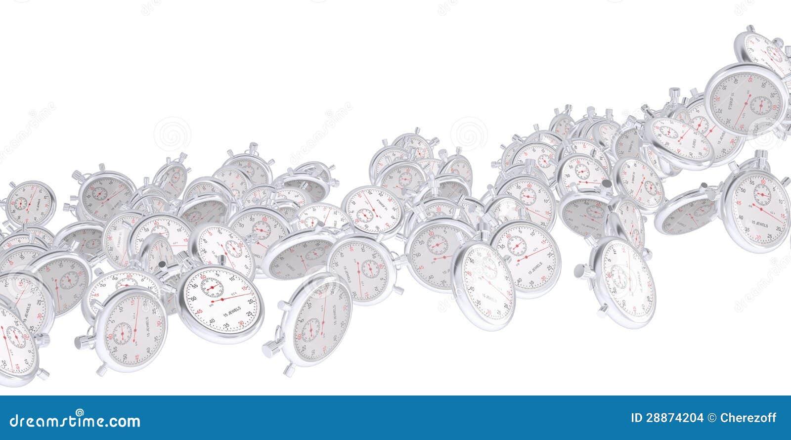 De stroom van de chronometers